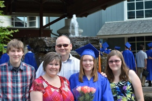 Dylan, Mom, Dad, Me and Kelsey