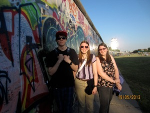 Dylan, Me and Kelsey, Berlin Wall