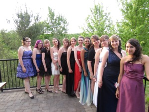 Nicole, Rachel, Jessie, Emily, Sam, Me, Amy, Sammi, Kelsey, Stacey, Candice, Nicole