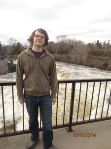 Mikey at Hog's Back Falls