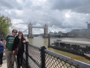 Mikey and I in front of Tower Hill.