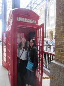 We found a phone booth!