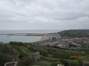 Dover from Dover Castle.